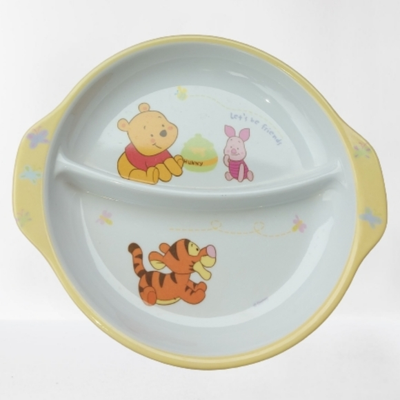 Disney Winnie The Pooh divided plate 6""